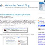 """rel=""""author"""" FAQ from Google Webmaster Central Blog"""