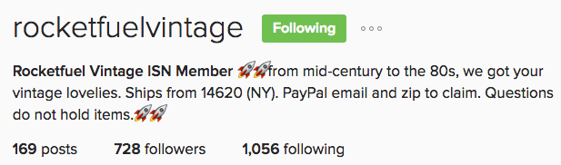 Rocket Fuel Vintage Instagram Accepts PayPal from the Post