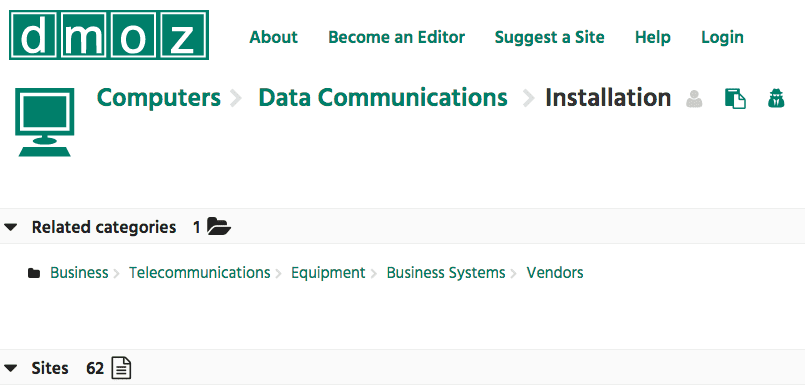 DMOZ blog topic research tool