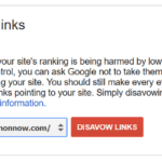 Opening Screen on Google Disavow Tool