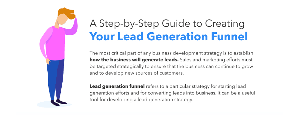 Lead Generation Funnel Infographic