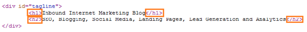 Hubspot Header Tags for On Page