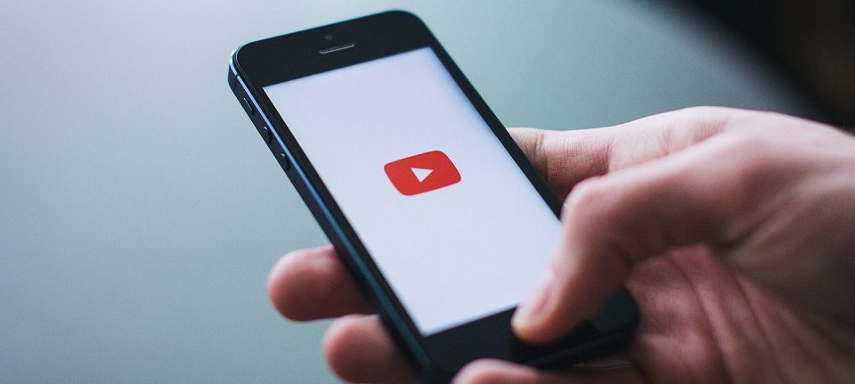 Image of YouTube on a Mobile Phone Video SEO Post