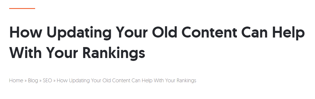 Example of blogosphere going crazy about updating old content