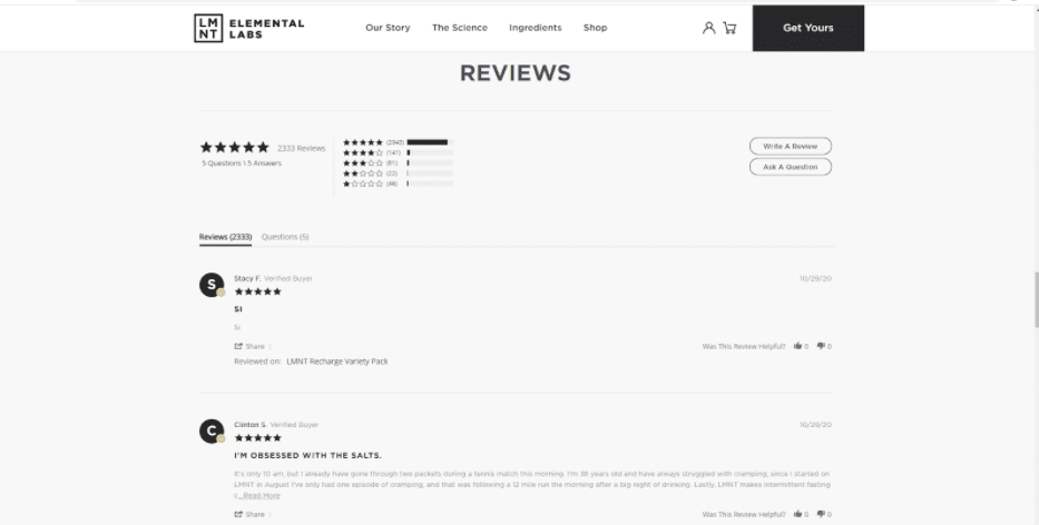 Social Proof: Rely on Customer Reviews