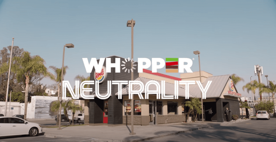 Burger King Controversial Marketing Whopper Neutrality