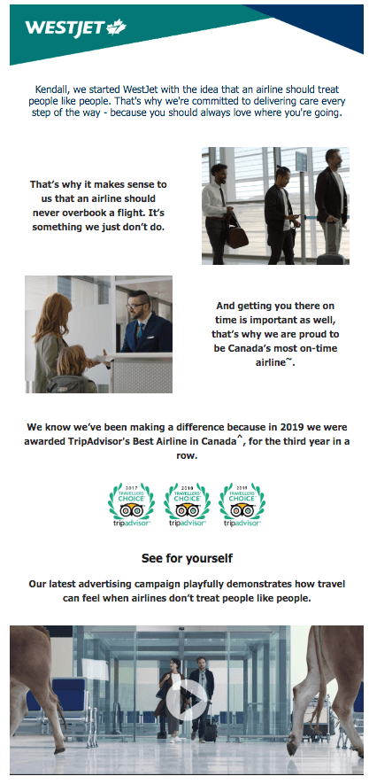 Tips to Promote Video Content: WestJet Example